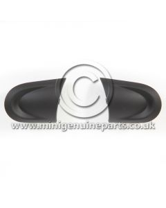 Matt Black Steering Wheel Trims, Left & Right - Facelift