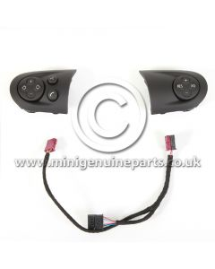 Matt Black Multi Function Steering Wheel Trims, Left & Right - Facelift