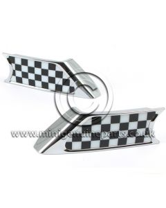 Side Scuttle - Chequered Flag, pair