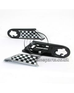Side Scuttle Kit - Chequered Flag - includes carriers