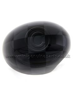 MINI Black and Grey Chequered Wing Mirror Cover RH RHD ONLY - F54/F55/F56