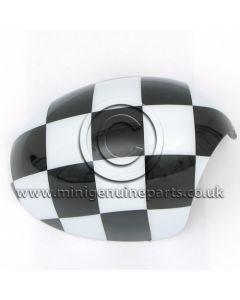 Chequered Mirror Cover - RH - R55/R56/R57/R60