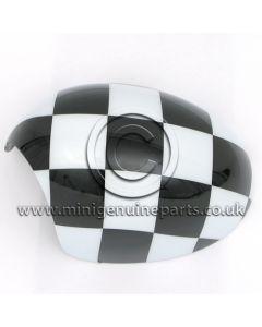 Chequered Mirror Cover - LH - R55/R56/R57/R60