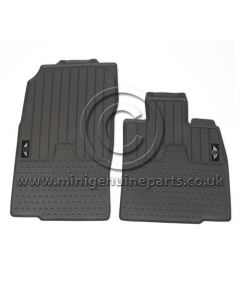 Countryman Front Rubber Floor Mats - MINI Wings Logo - RHD