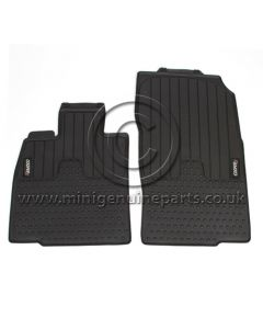 Countryman Front Rubber Floor Mats - Cooper S Logo - LHD