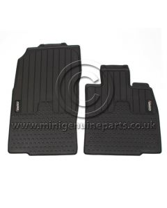 Countryman Front Rubber Floor Mats - Cooper S Logo - RHD