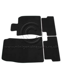 JCW Velour Front and Rear Velour Mats with Red Seam Stitching - R56 RHD (UK)