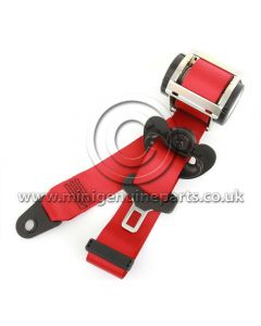 GP2 Chili Red Front Seatbelt - Left - R55/R56/R57