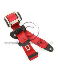GP2 Chili Red Front Seatbelt - Right - R55/R56/R57