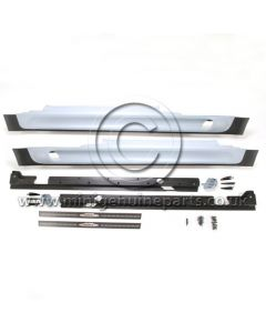 R57 JCW Cabrio Primered Side Skirt Kit - Complete with Door Entry Strips and all Fitting Clips