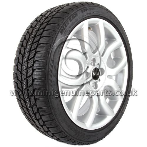205/45R17 - Winter Wheel & Tyre - 17'' Flame Spoke with 205/45/17 Bridgestone Blizzak LM25