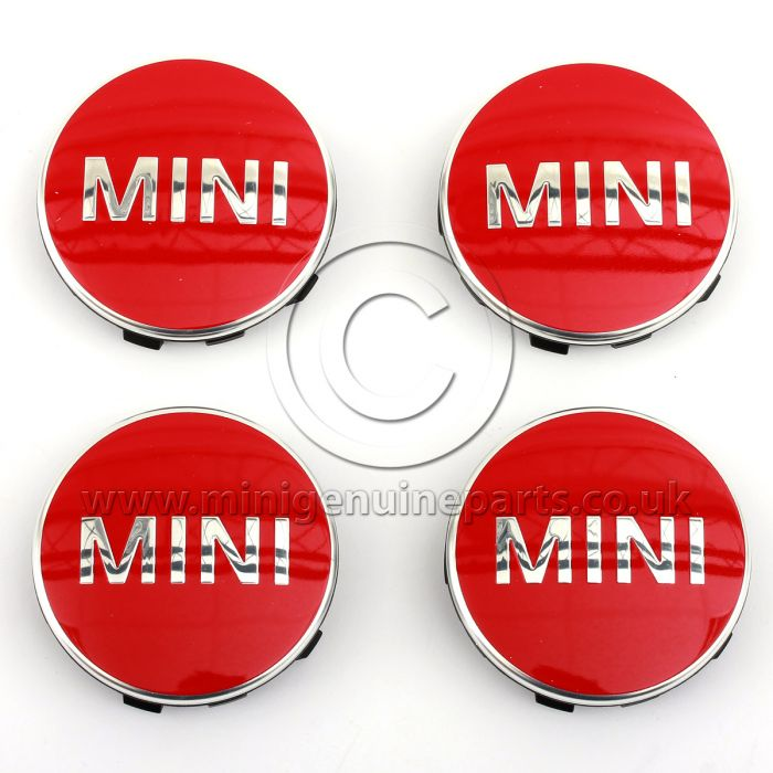 Chili Red Wheel Centre Caps - set of 4 - F56