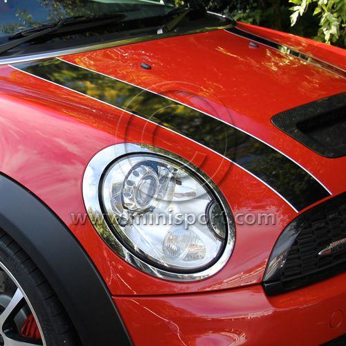 Bonnet Stripe - Black COOPER D/S - RH - R55/R56/R57