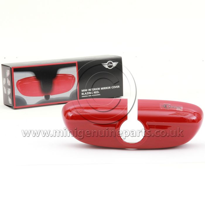 Blazing Red Interior Rear View Mirror Cover - F56