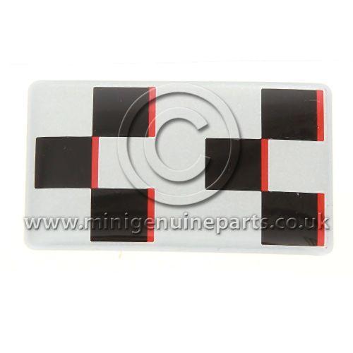 JCW Dash Sticker - Silver with Black Chequer