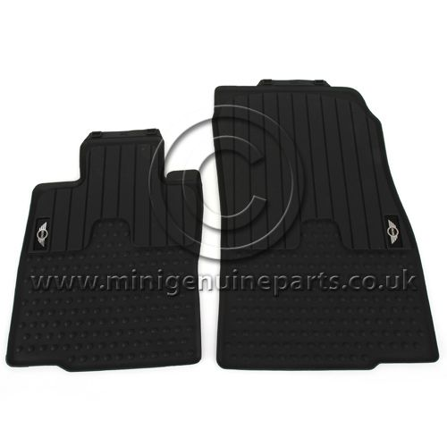 Rubber Front Floor Mats with MINI logo - R55/R56/R57 - LHD (Euro)