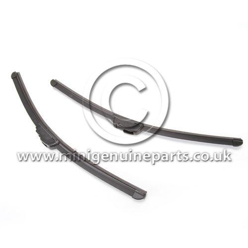 Front Wiper Blade Set - Aero Flat Style - RHD - all models 2001-2011