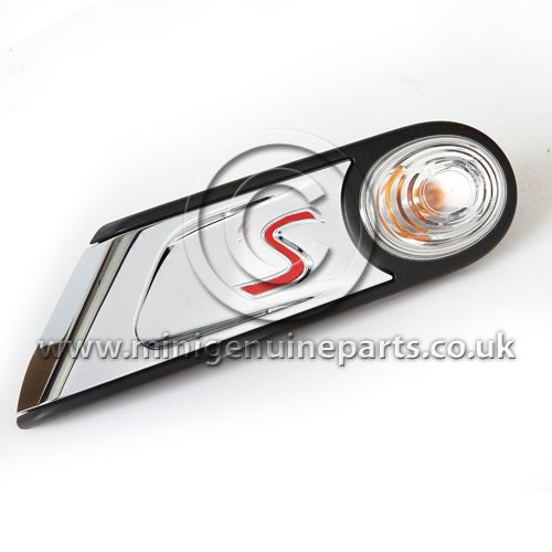 Cooper S Side Repeater - clear - Left - 2011 spec