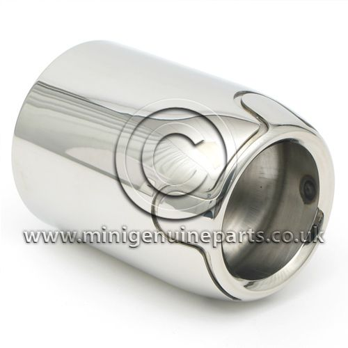 Cooper S Stainless Steel exhaust tailpipe trim- R55 Cooper S Clubman