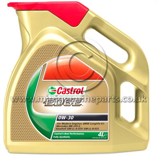 Castrol Edge 0W 30 Engine Oil - 4 Litre Bottle