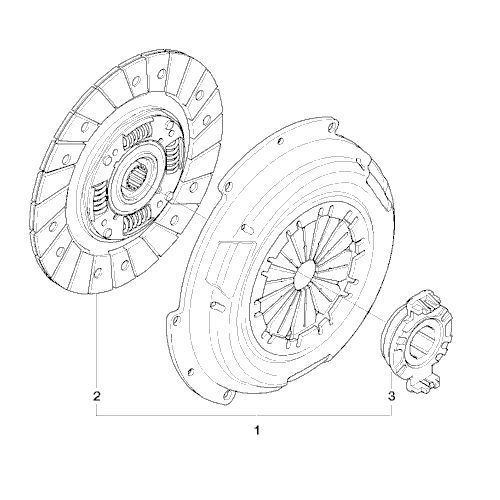 Clutch Drive Plate, Diaphragm and Release Bearing Plate - 200mm - R50 One/Cooper upto July 2004