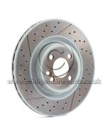 316mm x 22mm JCW Drilled Front Brake Disc, each - Factory JCW - July 2008 on