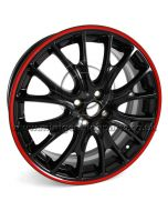 JCW Black with Red Pinstripe R113 - 18 x 7 wheel only