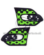 MINI Vivid Green Side Scuttle Trim Set - F55/F56