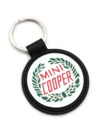 MINI Cooper Leather Laurel Keyring